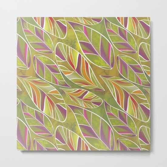 Leaves. Metal Print