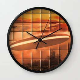UFO Alien Ship Wall Clock