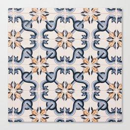 Blue Yellow Portugal Tiles #4 Canvas Print