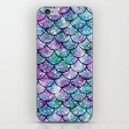 Mermaid Pattern - Aqua & Purple Glitter Texture iPhone Skin