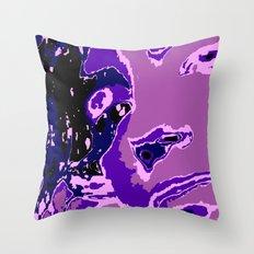Purple Geisha Throw Pillow