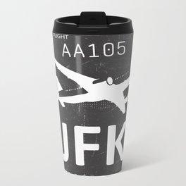 JFK Airport code New York USA Metal Travel Mug
