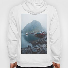 Foggy Morning in Reine, Lofoten Hoody
