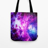 nebula Tote Bags featuring nebuLA by 2sweet4words Designs