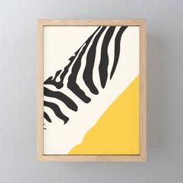 Zebra Abstract Framed Mini Art Print