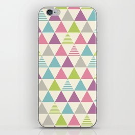 Colorful triangle pattern. iPhone Skin