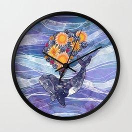 Deep Sea Bloom Wall Clock