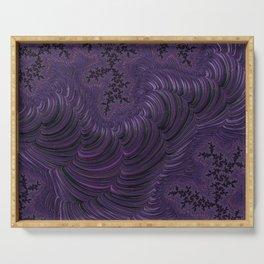 Fractal Art-Purple Slinky Serving Tray