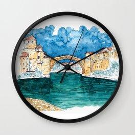 Stari Most Herzegovina Sketch Wall Clock