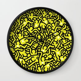 Keith Haring Variation #25 Wall Clock