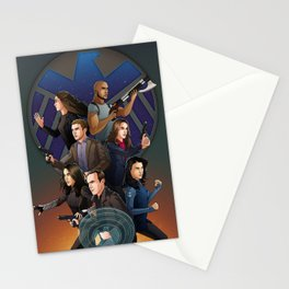 SHIELD Team In Action Stationery Cards