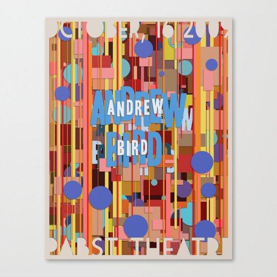 Andrew Bird Poster Canvas Print