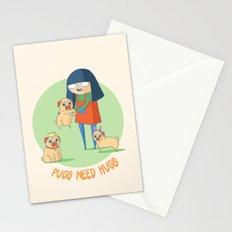 Pugs need hugs Stationery Cards