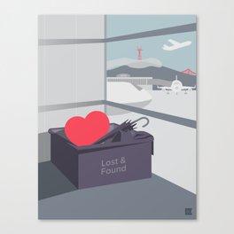 Left my Heart in San Francisco Canvas Print
