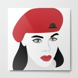 A woman soldier Metal Print