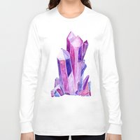 crystal Long Sleeve T-shirts featuring Crystal by Christina Guo