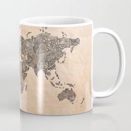 Henna Ink World Map Coffee Mug