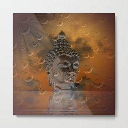 budha in sky Metal Print