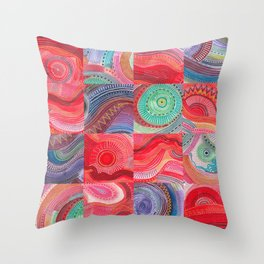repetitive moments in air Throw Pillow