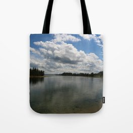 Yellowstone Lake View Tote Bag