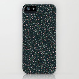 pink floral theme iPhone Case