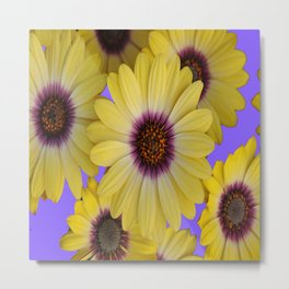 LILAC & YELLOW FLOWERS GARDEN Metal Print