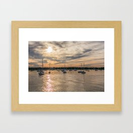 Hyannis sunset Framed Art Print