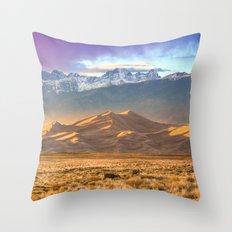 Deer and the Dunes Throw Pillow