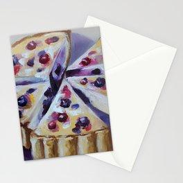 Desert, cake, food, original oil painting Stationery Cards