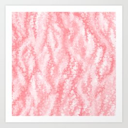 Pastel Strawberry Pink Lacey Icing Art Print