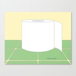 Reusable Toilet Paper Canvas Print