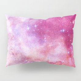 Blush Pink and Ultra Violet Celestial Galaxy Pillow Sham