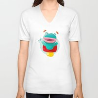 dino V-neck T-shirts featuring DINO by Sergio Caruso