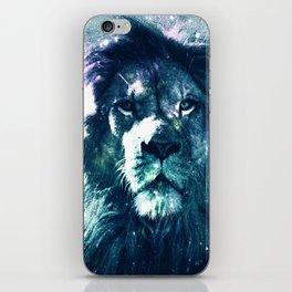 Lion Leo Teal iPhone Skin