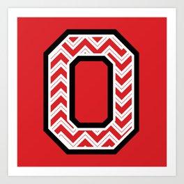 "Chevron Block ""O"" Art Print"