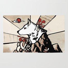 Wolf Ukiyo-e Rug