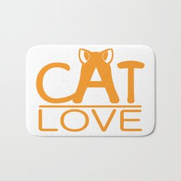 Cat love Bath Mat