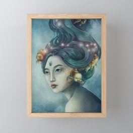 Zodiac Pisces Framed Mini Art Print