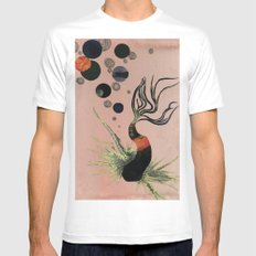 Koi Bubbles White MEDIUM Mens Fitted Tee