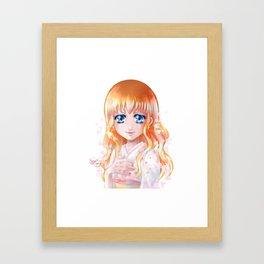 Hana floraison Framed Art Print