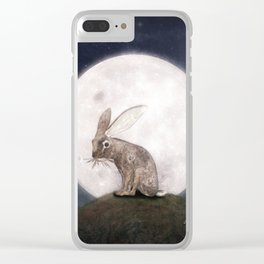 Night Rabbit Clear iPhone Case