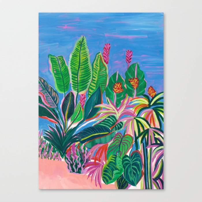 Tropical Patio Canvas Print