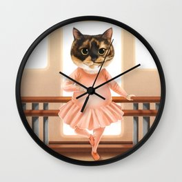 Ballerina Cat Wall Clock