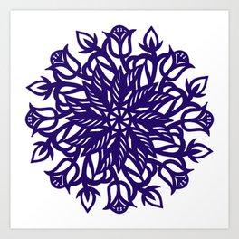 Folk art floral cut work Art Print