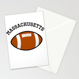 Massachusetts American Football Design black lettering Stationery Cards