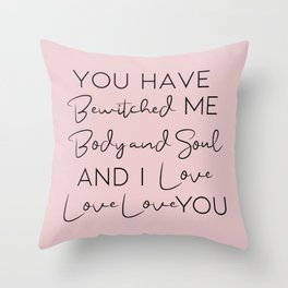 Pride and Prejudice, Darcy Quote Throw Pillow