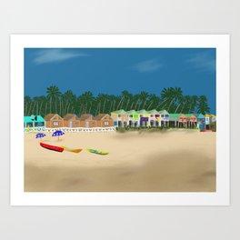Palolem Beach in Goa Art Print