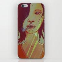 smoking iPhone & iPod Skins featuring Smoking by IOSQ