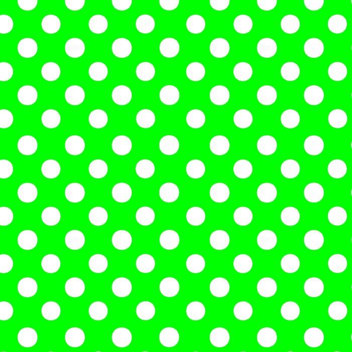 Polka Dots (White/Green) Leggings