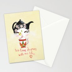 Miss Tea-Time Stationery Cards